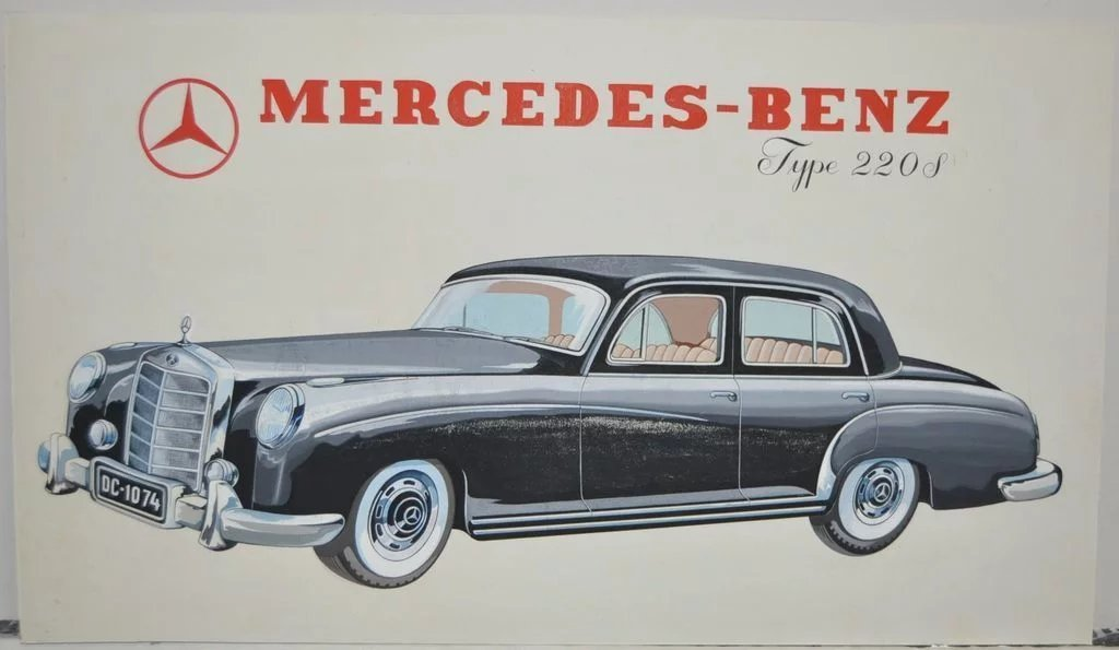 Vintage 1950 39 s mercedes benz type 220s advertisement for Mercedes benz types