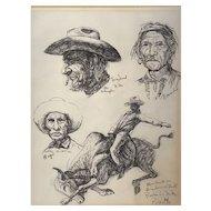 Fine Art Native American Sketches by Gregory Perillo