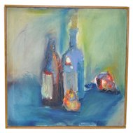 Contemporary Abstract Still Life by Burkhardt c.1990