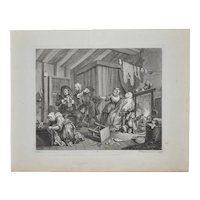 19th Century Engraving by William Hogarth - Harlot's Progress, Plate 5