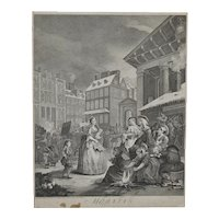 "18th Century Engraving by William Hogarth ""Morning"" c.1738"