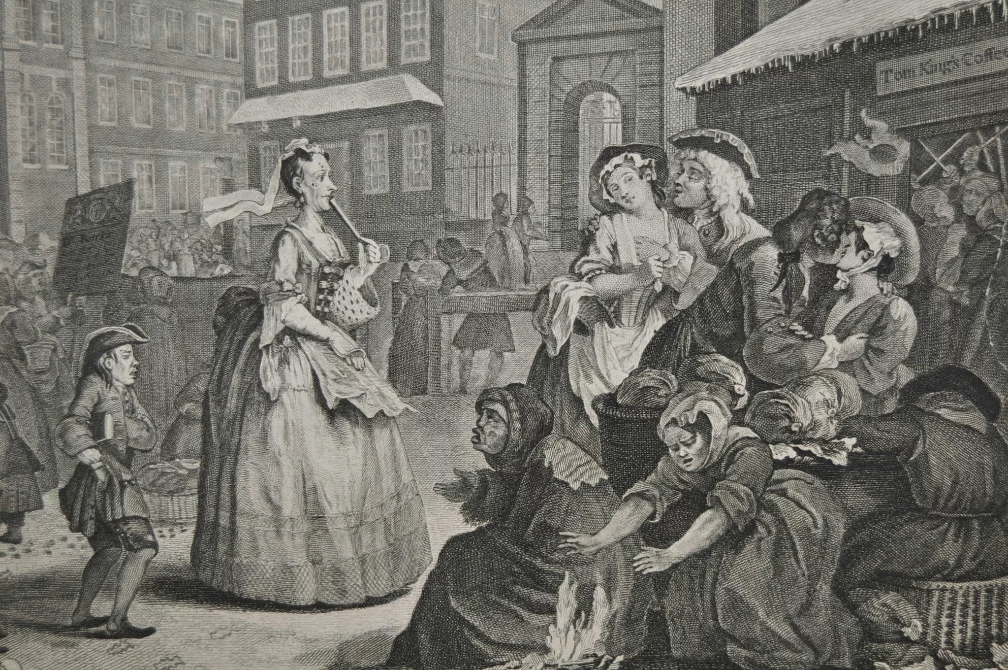 18th Century Engraving By William Hogarth Quot Morning Quot C 1738