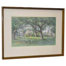 Frederick Stuart (1837-1913) Original Watercolor c.1900
