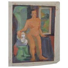 1940's Figurative Nude Study by Nancy Larsen
