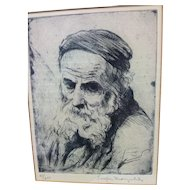 Joseph MARGULIES (1896-1984) Etching - Signed / Numbered - Judaica / Spiritual