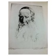 Lionel S. Reiss (1896 - 1986) Etching