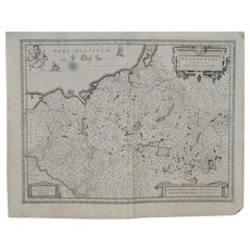 17th Century German Map by Jan Jansson