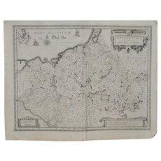 17th Century German Map by Jan Jansson