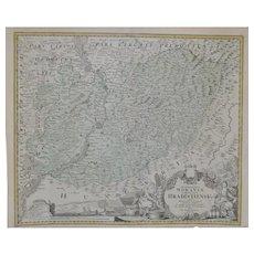 A Map of Hradiste Region by Johann Baptist Homann c.1720