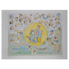 Al Smith (Cartoonist 1902-1986) Signed Lithograph c.1978