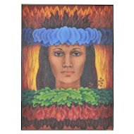 Hawaiian Goddess Pele by Eleanor Perry c.1970's