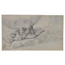 Early 20th Century Print of  Michelangelo's Tityus