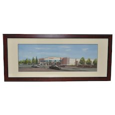 Contemporary Target Architectural Illustrated Maquette Watercolor #2