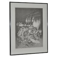 """James Claussen """"Expanded Vapor"""" Stone Lithograph c.1984"""