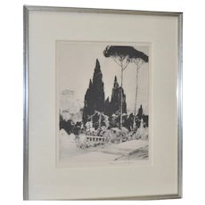 Chauncey F. Ryder (American) Drypoint Etching 1920s