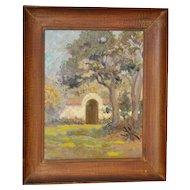 California Impressionist Oil Painting c.1930s