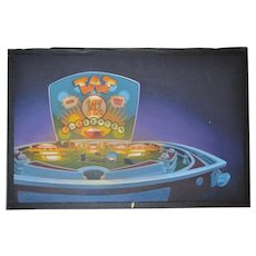 Original Pinball Oil Painting