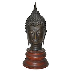 Thai Ayutthaya Bronze Buddha Sculpture