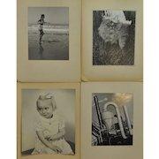 Lot of Four Vintage Black & White Studio Photographs by Dunckhorst 1940s