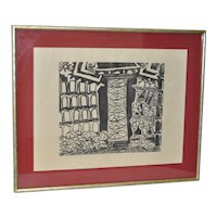 Contemporary Woodblock Print by Mystery Artist c.1999