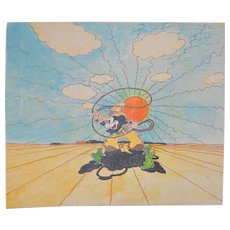 Cowboy Mickey Illustration c.1970s