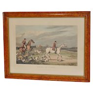 """""""Going to Cover"""" Hand Colored Engraving c.1828"""