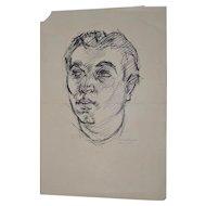 "William Littlefield ""Man"" Original Pen & Ink c.1930s"