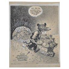 Vaughn Shoemaker WW II Political Cartoon c.1940