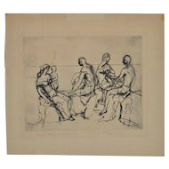 Roger Lyford (1889-1953) Pencil Signed Etching c.1950