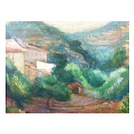 French Impressionist Landscape On Canvas