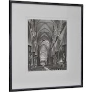 Salisbury Cathedral B&W Photograph by Askew c.1992