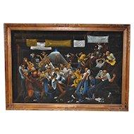 Vintage African American Black Velvet Art c.1960s