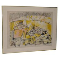 Roberto Matta (1911-2002) Pencil Signed Limited Edition Lithograph c.1970s