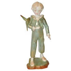"Royal Worcester Figure ""The Parakeet"" c.1950"