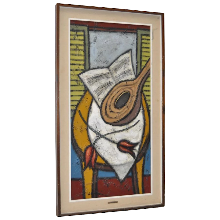 Mid Century Modern Abstract Still Life By Volpini C 1950s