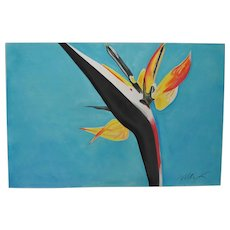 Monumental Bird of Paradise Pastel Painting by Max