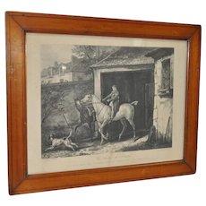 Antique Equestrian Print by Jazet after C. Vernet c.1840