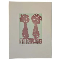 "Arthur Krakower Monotype ""Twin Vases II"" c.2004"
