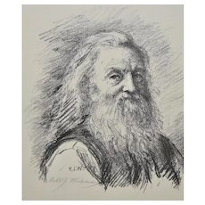 Robert J. Wickenden (1861-1931) Pencil Signed Lithograph c.1888