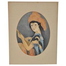 Marie Laurencin (1883-1956) Original Serigraph c.1950s