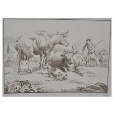 Early 19th Century Pen and Ink by Franz O'hlers c.1805