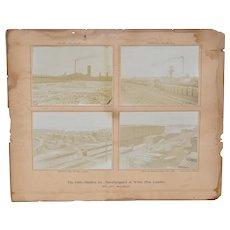 Historic Bay City Michigan Lumber Yard Photos c.1910