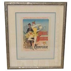 L'Amant des Danseuses by Jules Cheret for a Novel by Felicien Champsaur c.1896