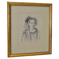 Ralph Stackpole (1885-1973) Original Pencil Portrait c.1927