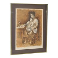 Manolo Ruiz Piop (1929-1998) Vintage Pencil Signed Lithograph c.1970