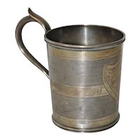 Early Gorham Coin Silver Cup c.1850s