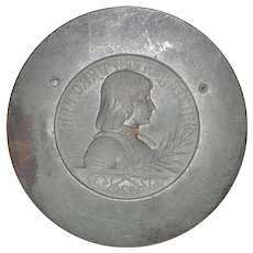 Joan of Arc French Medal Pendant Mold (Bronze) c.1910 *Rare*