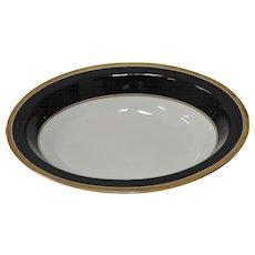 Richard Ginori Black & Gold Trim Oval Bowl