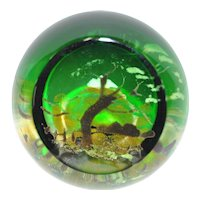 """Caithness """"Spring Symphony"""" Glass Paperweight"""