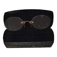 Antique Bifocals With Case